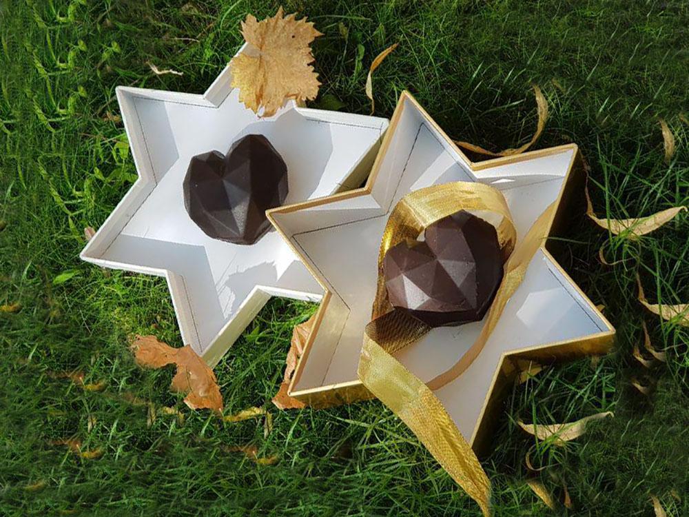 قلب سوپرایز شکلاتی کوچک